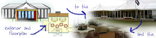 Artists impressions of marquee layout